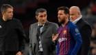 Cariñosa despedida de Messi hacia Valverde