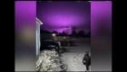 El cielo se tiñó de púrpura en un pueblo de Arizona