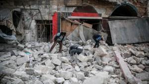 Decenas de muertos durante bombardeos en Siria