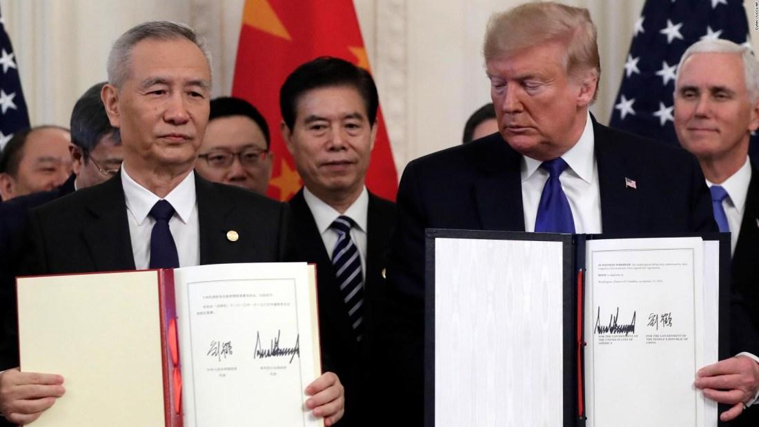 EE.UU. y China firman primera fase de acuerdo comercial
