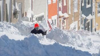 Así quedó Terranova, Canadá, tras nevadas récord