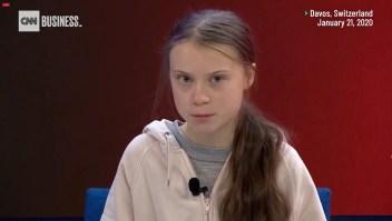 Greta lanza una advertencia en Davos
