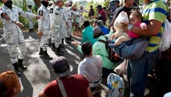 Nuevo enfrentamiento entre la Guardia Nacional y migrantes