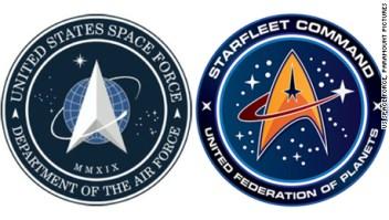 ¿Copia la Fuerza Espacial de EE.UU. un logo de Star Trek?