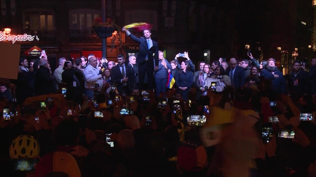Intensa actividad de Juan Guaidó en España