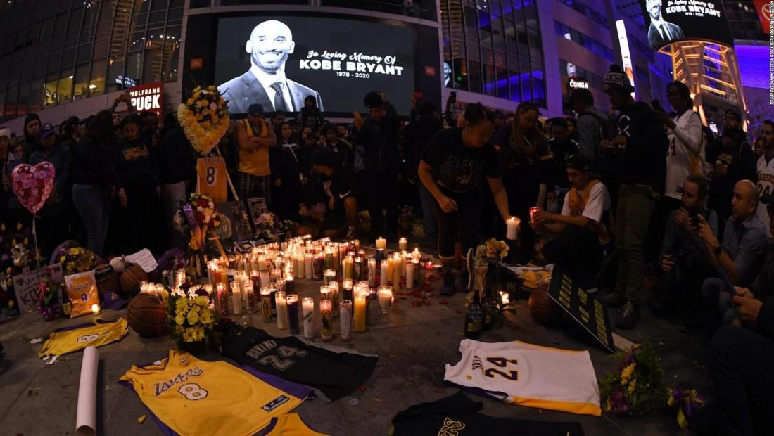 Homenajes en el mundo por la muerte de Kobe Bryant
