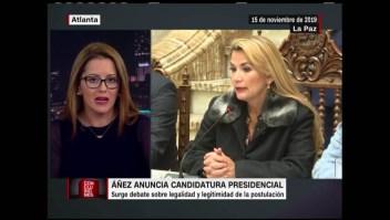 Debate sobre la postulación de Jeanine Áñez