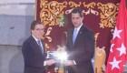 Guaidó recibe la llave de Madrid