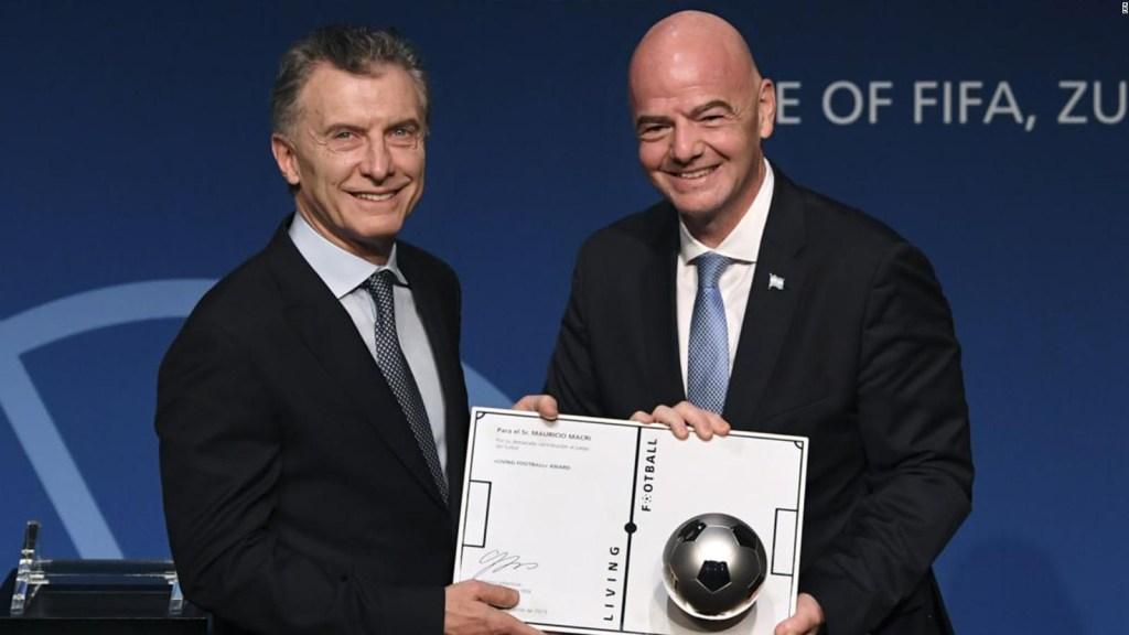 Macri fue nombrado presidente de la Fundación FIFA