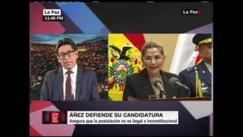 La legalidad de la candidatura de Jeanine Áñez