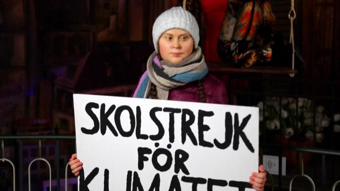 Greta Thunberg llega al museo