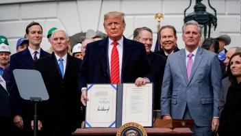 Tras el T-MEC, Trump dice que México está pagando el muro