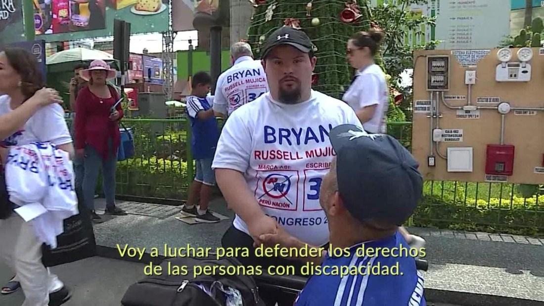 Peruano con síndrome de Down quiere ser congresista