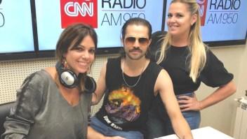 Felipe Colombo en los estudios de CNN Radio Argentina.