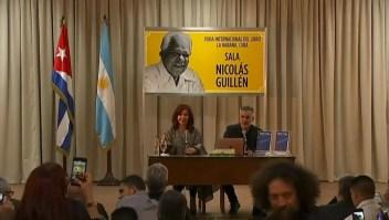 La vicepresidenta de Argentina presentó su libro en La Habana
