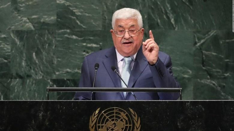 Presidente de Palestina condena plan de paz de Trump