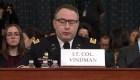 John Kelly defiende al teniente coronel Vindman