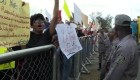 Jóvenes dominicanos salen a las calles por la democracia