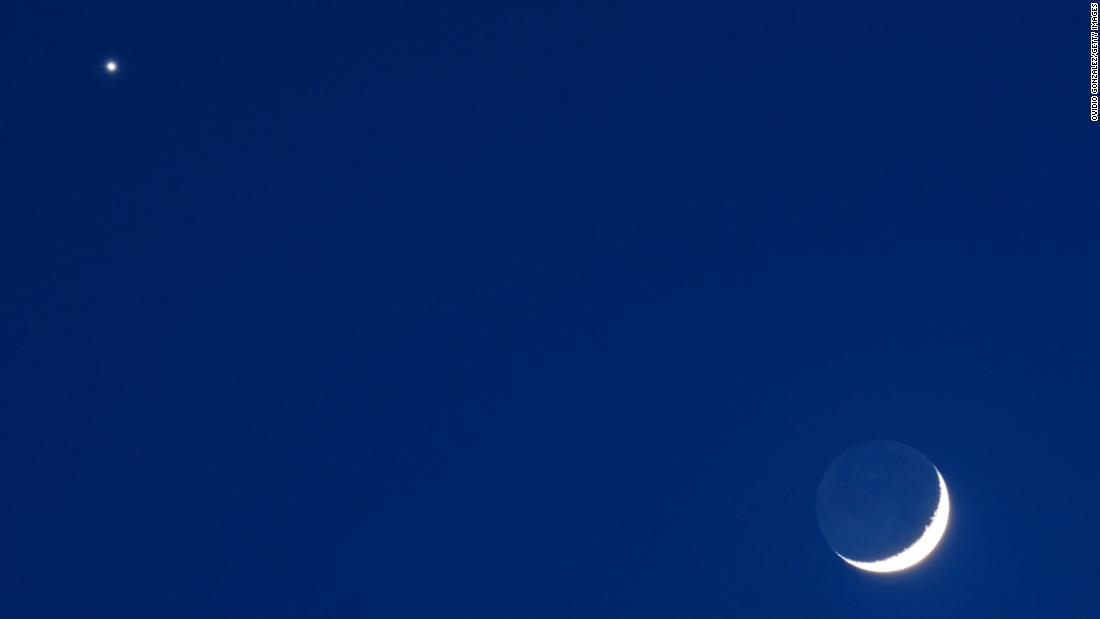 Cómo Ver Venus Y Una Luna Creciente Frente A Frente Este Jueves Cnn