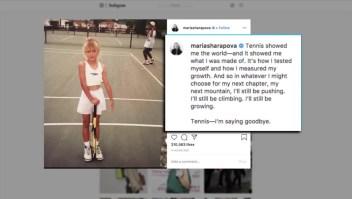 """Sharapova jugaba tenis cuando las raquetas eran """"dos veces"""" su tamaño"""