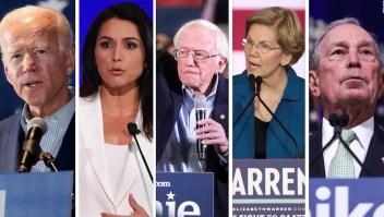 Quedan 5 aspirantes a la candidatura presidencial demócrata