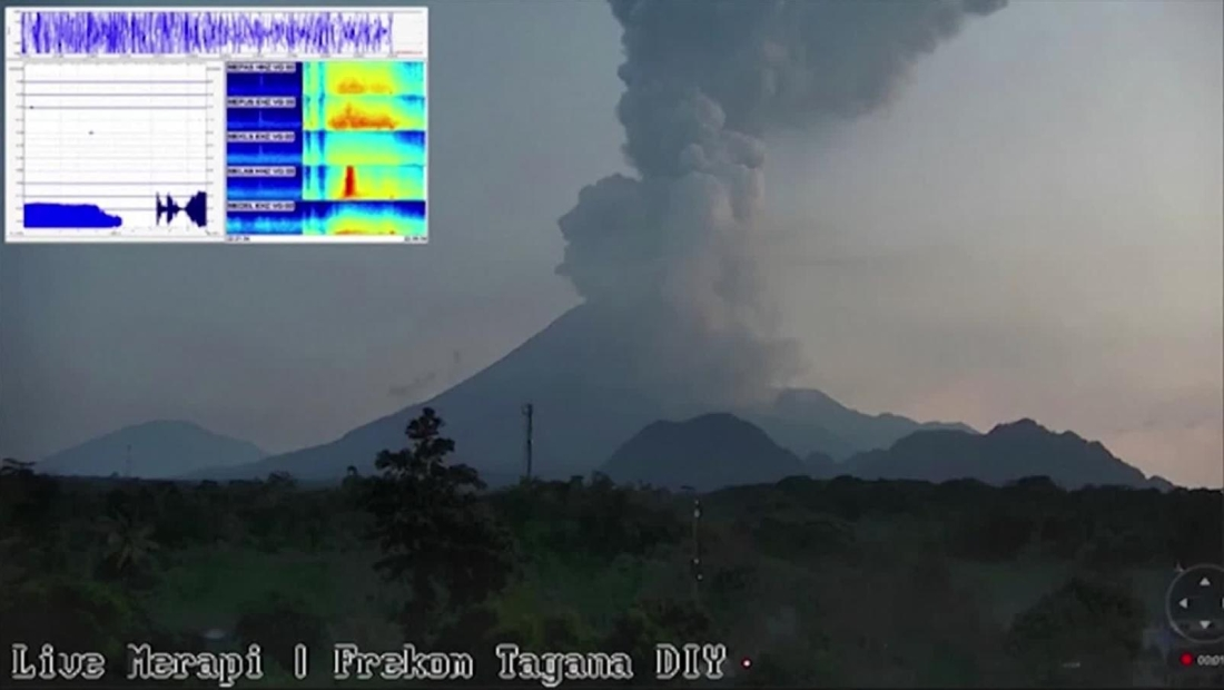 El volcán Merapi entra en erupción en Indonesia