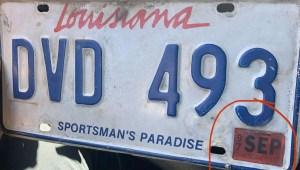 Así se excusó un hombre en Louisiana que no renovaba sus placas desde 1997