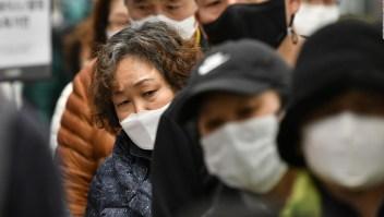 Las colas en Corea del Sur para comprar máscaras