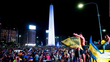 Así celebró la afición xeneize el campeonato argentino