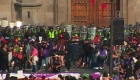 Desmanes en México durante la marcha del Día Internacional de la Mujer