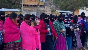 Zapatistas se unen al paro del movimiento feminista