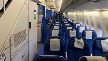 Asi es viajar en clase ejecutiva en un vuelo fantasma