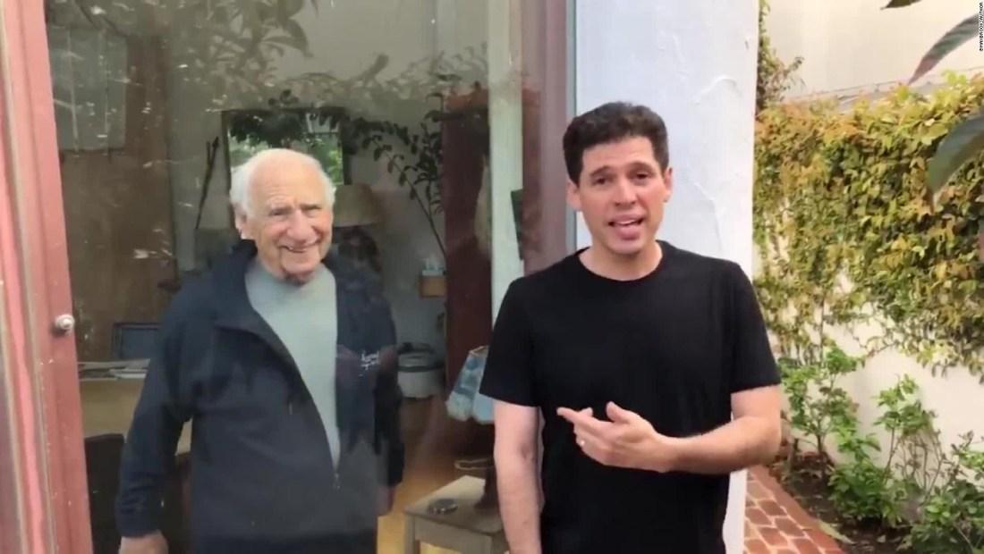 Mel Brooks y su hijo alertan sobre la cuarentena