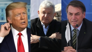 Trump, AMLO y Bolsonaro bajo la lupa ante el covid-19
