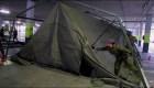 Levantan hospitales de campaña en España para enfrentar la pandemia por covid-19