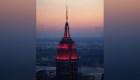 Empire State rinde un homenaje a los trabajadores de la salud