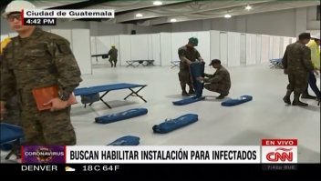 Guatemala trabaja para habilitar en 5 días un hospital para enfermos de coronavirus