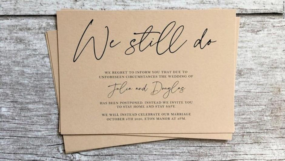 Tarjeta de posponer boda