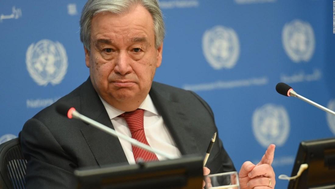 Para el secretario de la ONU, esta crisis es la más fuerte desde la Segunda Guerra Mundial