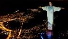 Mira cómo el Cristo Redentor rinde homenaje a los médicos