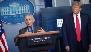 Tensión entre Donald Trump y Anthony Fauci