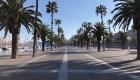Barcelona parece una ciudad fantasma