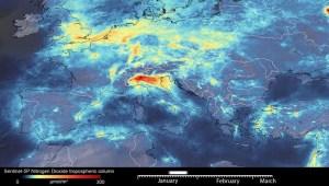 Hay menos contaminación en Europa por la pandemia