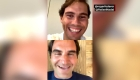 Federer y Nadal juntos en una transmisión de Instagram