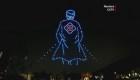 Un homenaje con drones y luces para los médicos de China