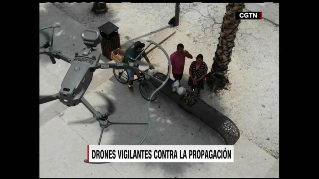 México: drones refuerzan distanciamiento social
