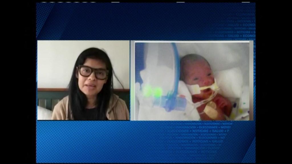 Embarazada se enferma de covid-19, entra en coma y da a luz