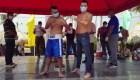 Nicaragüenses asistieron a evento de box en medio de la pandemia