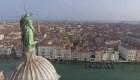 Un recorrido por una Venecia vacía desde las alturas