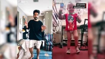 El tierno baile de Camilo con un niño argentino
